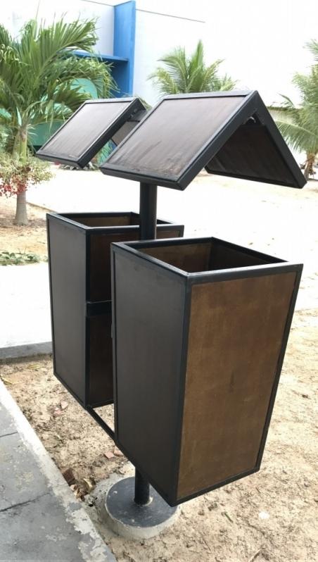 Distribuidor de Lixeira Ecológica de Madeira Plástica Sustentável Taboão da Serra - Lixeira Ecológica de Madeira Plástica para Empresa
