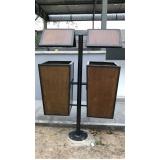 distribuidor de lixeira ecológica de madeira plástica para empresa Itapecerica da Serra