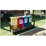 lixeira ecológica de madeira plástica para empresa Mauá