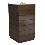 lixeira de madeira plástica para empresa