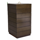 lixeira de madeira plástica sustentável