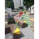 lixeira ecológica em madeira plástica
